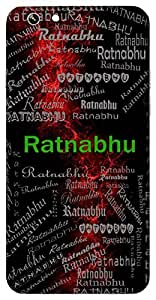 Ratnabhu (Lord Vishnu) Name & Sign Printed All over customize & Personalized!! Protective back cover for your Smart Phone : Moto X-Play