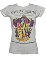 Ladies Grey Harry Potter Gryffindor Team Quidditch T Shirt