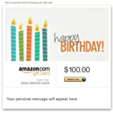 Amazon Gift Card - Email - Happy Birthday (Candles)