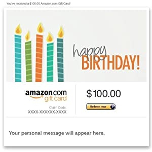 Amazon Gift Card - E-mail - Happy Birthday (Candles)