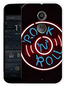 """Rock And Roll Vintage Printed Designer Mobile Back Cover For """"Motorola Moto X2"""" By Humor Gang (3D, Matte Finish, Premium Quality, Protective Snap On Slim Hard Phone Case, Multi Color)"""