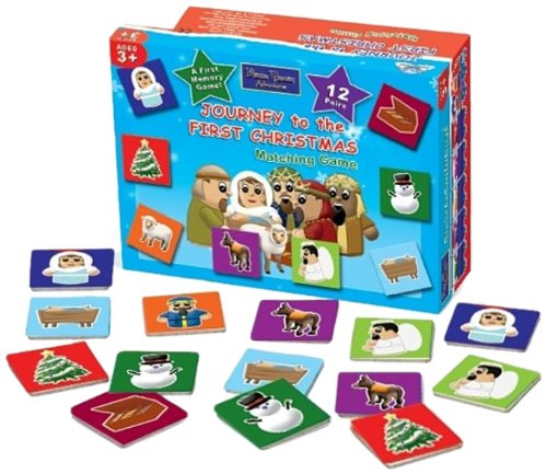 Journey to the First Christmas Matching Game: Bible Train Adventures