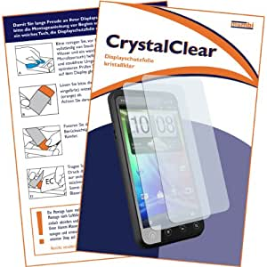 2 x mumbi Displayschutzfolie HTC EVO 3D Displayschutz CrystalClear unsichtbar