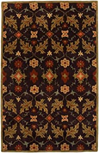 Jaipur Rugs 5 by 8-Feet Tuf Normal Liam Coffee Bronze Green Rectangle Rug