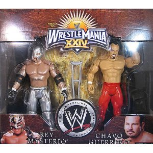 Buy Low Price Jakks Pacific WWE Wrestlemania 24 Exclusive Series 1 Action Figure 2Pack Rey Mysterio Chavo Guerrero (B0013O7UPU)