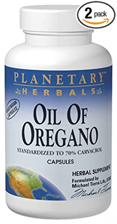Отзывы Planetary Herbals Oil of Oregano, Vegetarian Capsules, 60 capsules (Pack of 2)