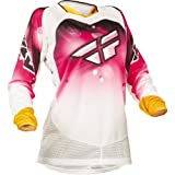 Fly Racing Women's Kinetic Jersey - 2X-Large/Pink/White