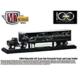 1958 Chevrolet LCF truck and long box trailer 1 64 CENTENNIAL EDITION by Collectable Diecast