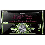 Pioneer Fh-x70bt Double Din Single Cd Receiver with Built-in Bluetooth, 2-line Display, Mixtrax, Pandora, Usb, Aux