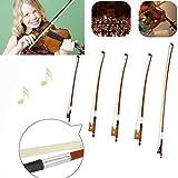 Professional Violin Bow Well Balanced Brazil Wood Ebony Frog Violin Arbor Horsehair Bow 4/4 / 3/4 / 1/2 1/4 /1/8 (1/4) (Tamaño: 1/4)