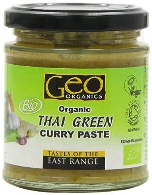Geo Organics Organic Thai Green Curry Paste 180 g (Pack of 6)