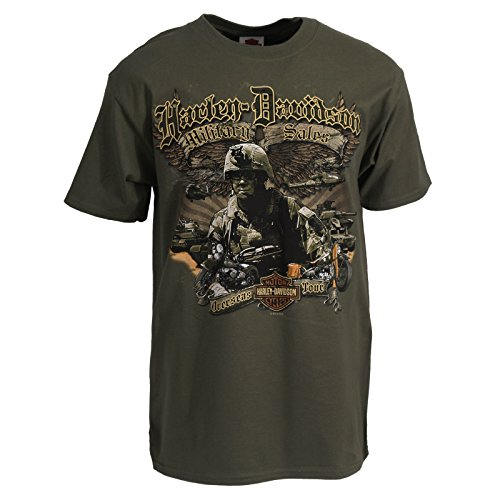 Harley davidson men 39 s t shirt custom winged patrol for Where to buy custom t shirts