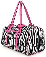 Belvah Women's Quilted Zebra Large Duffle Bag