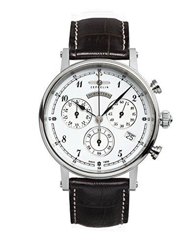 Zeppelin Watches - 7577-1 - Montre Femme - Quartz Analogique - Bracelet Cuir Marron