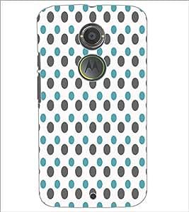 PrintDhaba Dot Pattern D-5919 Back Case Cover for MOTOROLA MOTO X2 (Multi-Coloured)