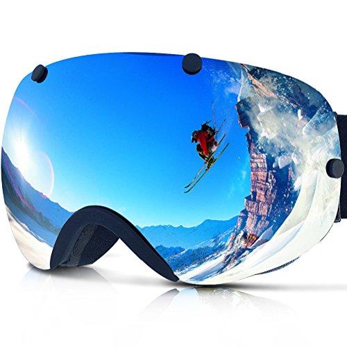 ZIONOR-Lagopus-XA-Professionnel-Motoneige-Snowboard-Patinage-Sans-Cadre-Lunettes-de-Ski-Super-Grand-Angle-Lentille-Double-Antibue-Sphriques-Unisexe-Adulte-Multicolor-Masque-de