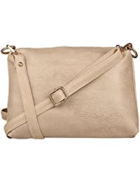 Speed X Fashion Women's Sling Bag (Beige)
