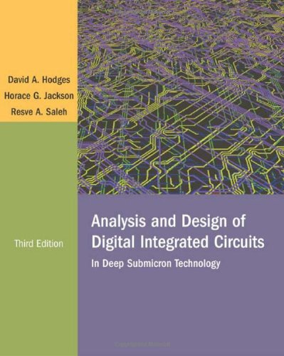 Analysis And Design Of Digital Integrated