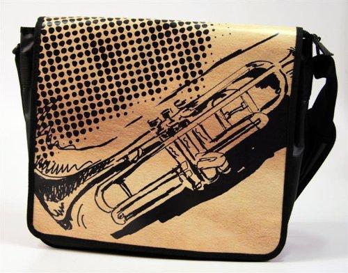 Laptoptasche-Messengertasche-Trompete-mit-Taschendeckel-zum-Wenden