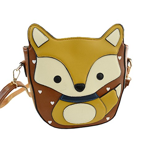 Top Shop Cute Fox Handbag Crossbody Clutch Purse Shoulder Bag Cartoon Coffee Satchel (Hoover Handbag compare prices)