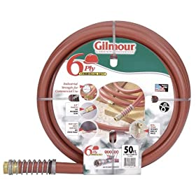 Gilmour 25-34025 25 Series 25-Foot-by-3/4-Inch 6-Ply Commercial Rubber/Vinyl Hose, Red