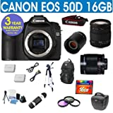 Refurbished Canon EOS 50D + Sigma 18-200 Lens + 500mm Mirror Lens