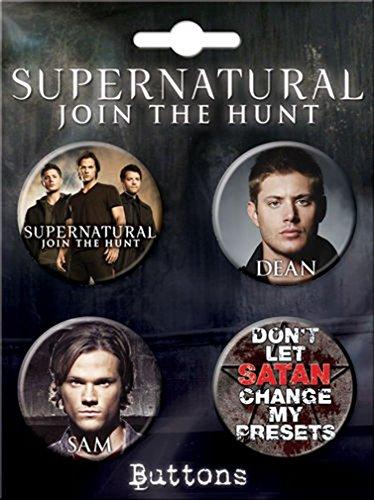 Ata-Boy Supernatural Assortment #4 4 Button Set