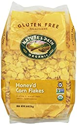 Nature\'s Path Organic Honey\'d Corn Flakes Cereal, 26.4-Ounce Bags (Pack of 6)