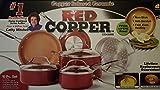 Red Copper Non-Stick Ceramic Cookware Set 10 Pc