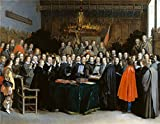 Oil Painting 'Gerard Ter Borch The Ratification Of The Treaty Of Mnster ' Printing On High Quality Polyster Canvas , 20 X 26 Inch / 51 X 65 Cm ,the Best Kids Room Decor And Home Decoration And Gifts Is This High Quality Art Decorative Prints On Canvas