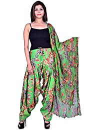 Fashion Store Women Cotton Printed And Plian Multi-Coloured Patiala Salwar With Dupatta Combo Of Assorted Color... - B0716LQFHV