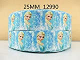 DISNEY FROZEN ELSA PRINCESS GROSGRAIN RIBBON 2M X 25mm FOR CAKE'S BIRTHDAY CAKES GIFT WRAP WRAPPING RIBBON HAIR BOWS CARDS CRAFT