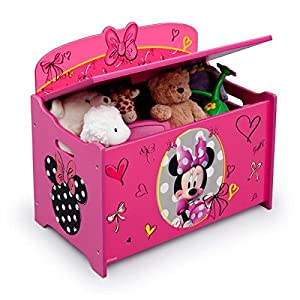 toybox girl disney minnie mouse pink toy chest toy boxes for girls baby. Black Bedroom Furniture Sets. Home Design Ideas