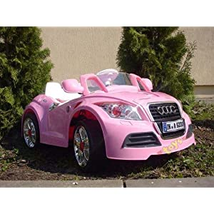 Ride on Car Pink Cabriolet Electric Child Kids Car -With Parental Remote Control-SAVE £££s OFF the RRP!