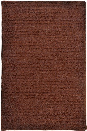 Allusion Area Area Rug, 4' SQUARE, CHOCOLATE