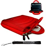 Sony DVP-FX730 7-Inch Portable DVD Player 11273 Cube Case (RED) + Includes a Determination Hand Strap