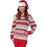 Forum Novelties Women's Adult All Wrapped Up Ugly Christmas Sweater, Winter Wonderland, Medium (Color: Winter Wonderland, Tamaño: Medium)