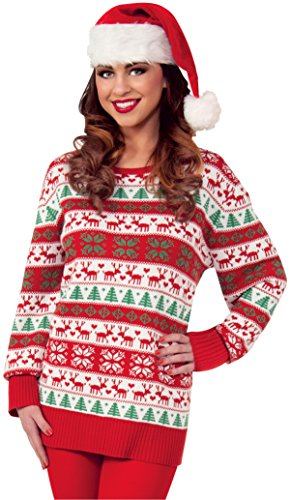 Forum Novelties Men's Plus Size Winter Wonderland Novelty Christmas Sweater