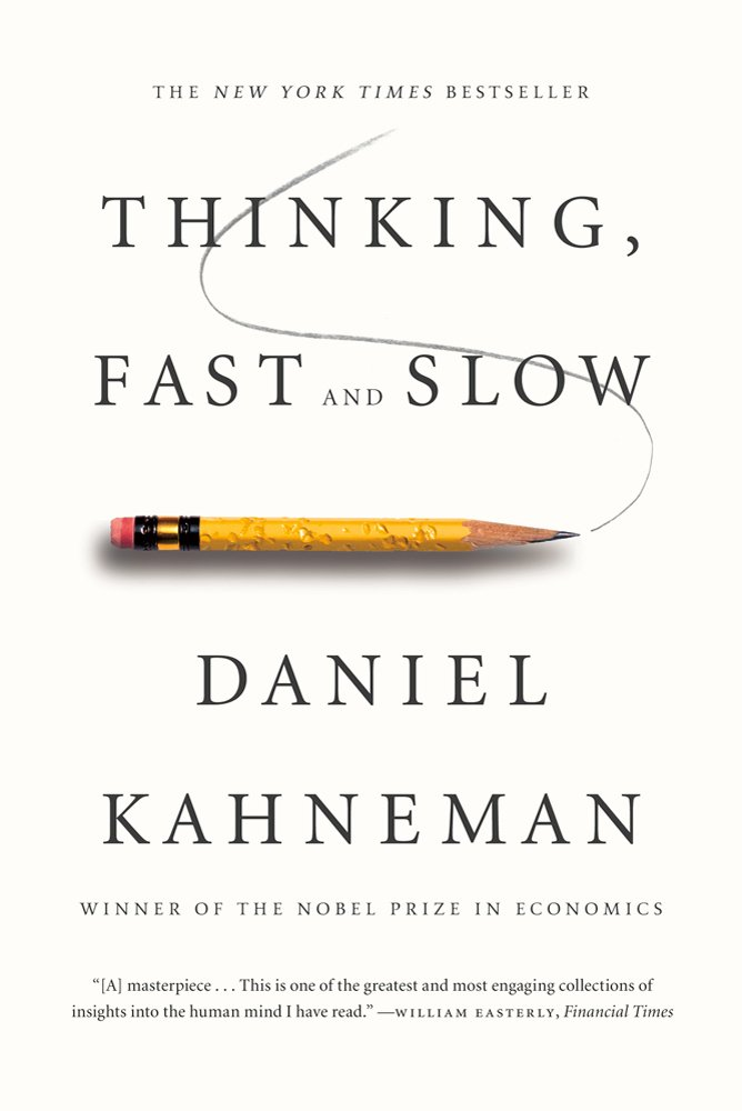 Thinking, Fast and Slow by Daniel Kahneman book cover