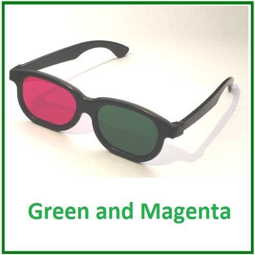 3D-BrilleGrünundMagenta-Für 3D-DVD und BluRay -Anaglyph[Elektronik]