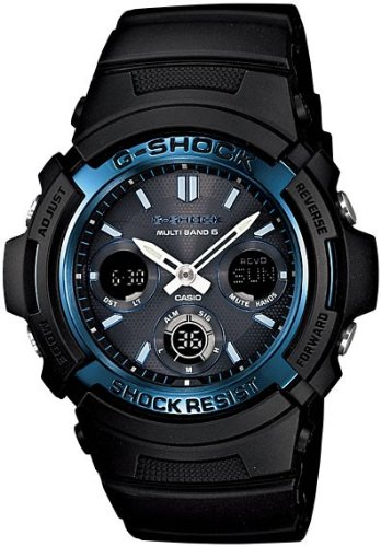 G-shock CASIO g-shock watch radio solar watch AWG-M 100A-1 mens [parallel import goods]