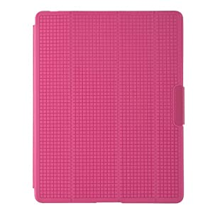 Speck PixelSkin HD Wrap Hard Shell Clip-On Case Cover with Built-In Stand for iPad 2/3/4 with Retina Display - Bubblegum Pink