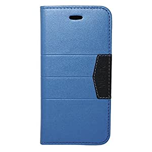 Eagle Cell Flip Wallet PU Leather Protective Case for Apple iPhone 6 - Retail Packaging - Dark Blue/Black