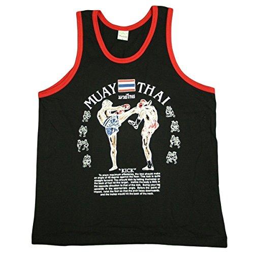 mens-tank-top-singlet-vest-gym-muay-thai-men-black-t-shirt-cotton-100-size-m-made-in-thailand