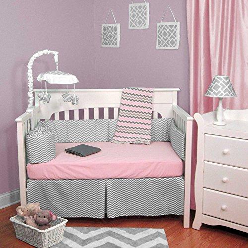 Gray Chevron Baby Bedding 7687 front