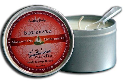 Earthly Body Suntouched Massage Candle- Squeezed 6.8oz
