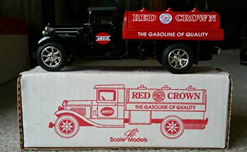 Scale Models Red Crown Amoco Gasoline 1931 Sterling Truck Bank Mint In Box