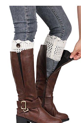 Frauen Schaltfläche Beinwärmer stricken Stiefel Socken