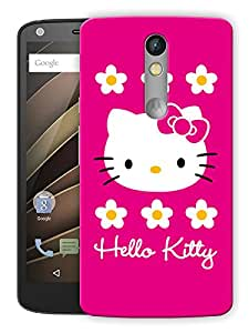 """Humor Gang Cute Kitty Pink Printed Designer Mobile Back Cover For """"Motorola Moto X Force"""" (3D, Matte, Premium Quality Snap On Case)"""