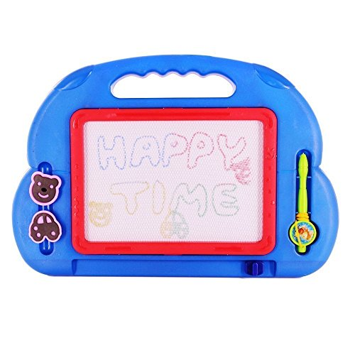 Beby Zaubermaltafel 4 Farbe Löschbar Gekritzel Skizze Kleinkindspielzeug Reißbrett mit 2 magnetische Stanzerei (Radom-Farbe)